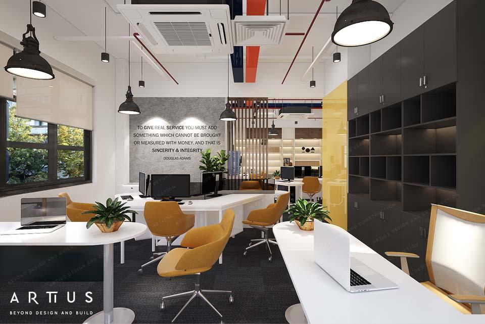 Ứng dụng ánh sáng trong không gian làm việc