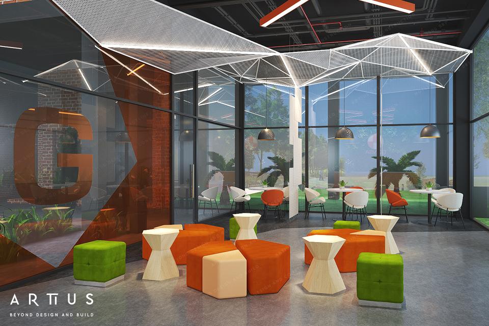 Thiết kế văn phòng gia tăng ánh sáng tự nhiên