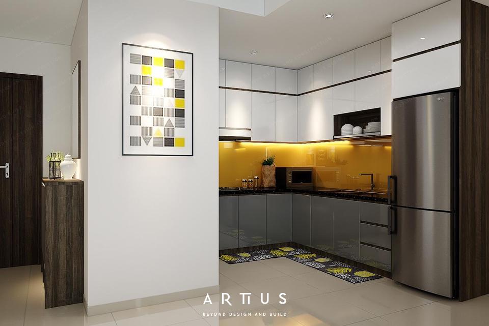 Nhấn tranh trang trí tại không gian bếp