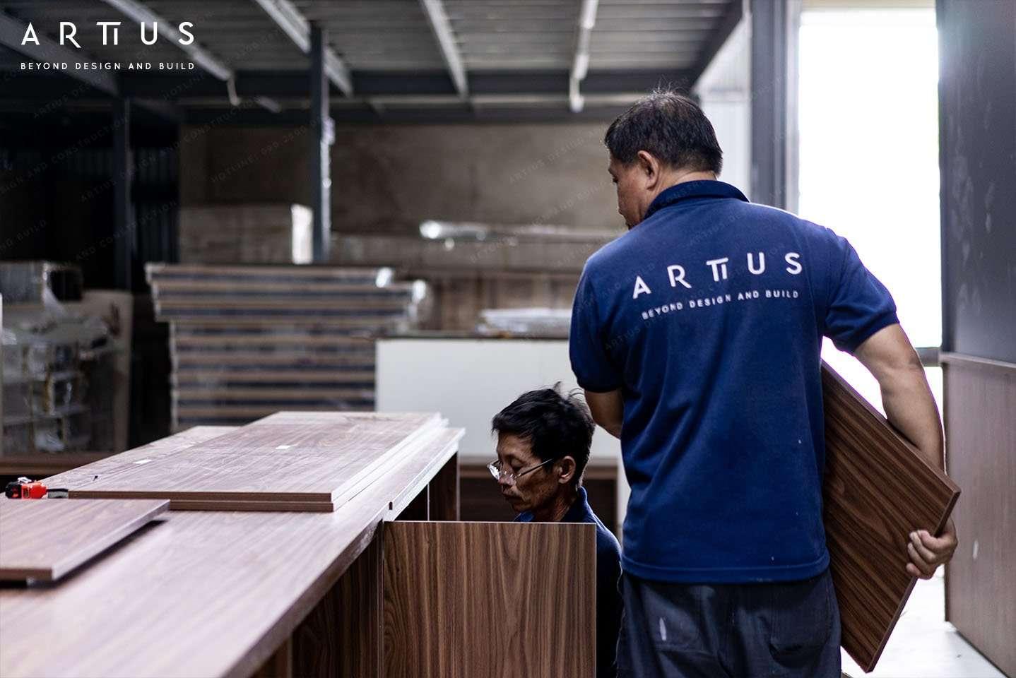 Quy trình sản xuất nội thất tại xưởng ARTIUS