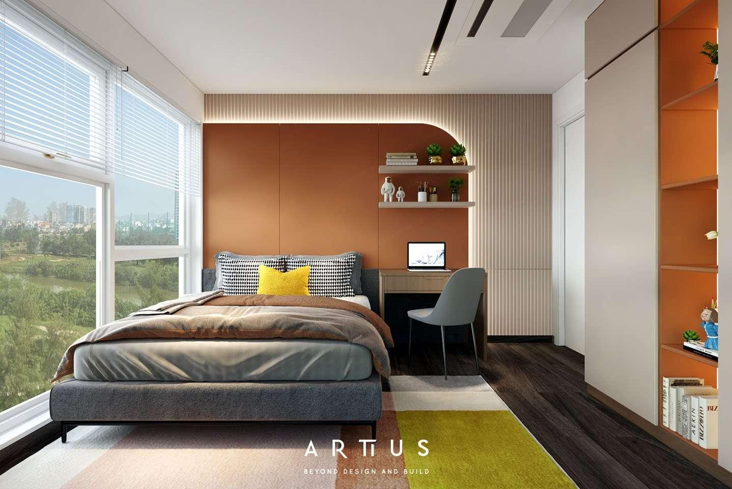 Thiết kế nội thất hiện đại với những đường thẳng tinh gọn